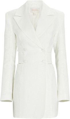MATÉRIEL Linen Cut-Out Blazer Dress