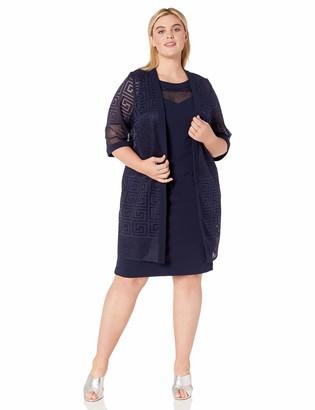 Maya Brooke Women's LACE Duster Jacket Dress