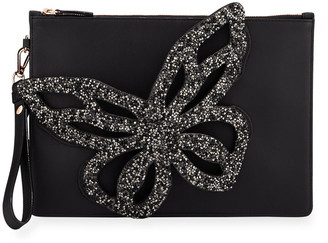 Sophia Webster Flossy Crystal Butterfly Wristlet Bag