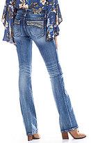 Miss Me Rhinestone Pocket Slim Bootcut Jeans