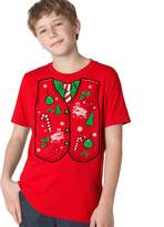 Crazy Dog T-shirts Crazy Dog Tshirts Youth Ugly Christmas Sweater Vest T Shirt funny Xmas shirt for kids L