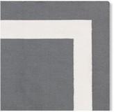Solid Border Indoor/Outdoor Rug, Gray