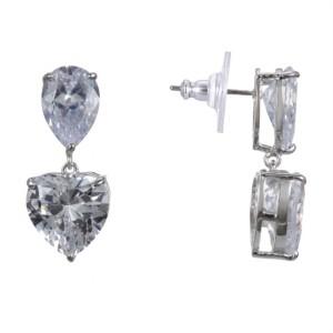 Nina Heart Cubic Zirconia Earrings