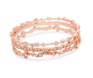 Kendra Scott Malia Bangle Bracelet Set of 3 in (Rose Gold/Blush Mix)