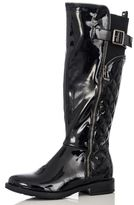 Quiz Black Patent Quilted Long Boots