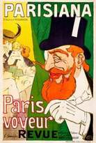 Canvas Art USA Parisiana / Paris voyeur by J. Saunier - Giclee Canvas Art Print