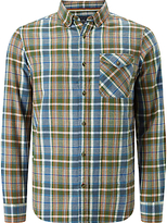 John Lewis Flannel Check Regular Fit Shirt, Green