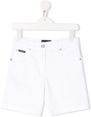 Dolce & Gabbana Logo Denim Shorts