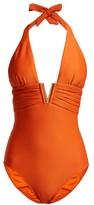Heidi Klein Casablanca V-bar Ribbed Swimsuit - Womens - Orange