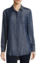 Liz Claiborne Long Sleeve Chambray Shirt