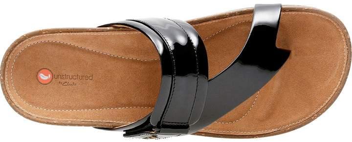 Black Flat Rosilla Patent Post Sandal Toe Durham ygf7b6