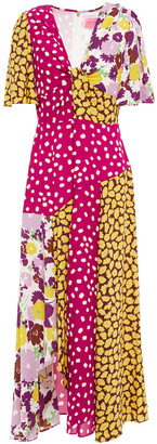 Kate Spade Patchwork-effect Twisted Printed Cady Dress