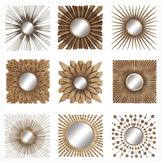 Mirrored Decors (Set of 9)