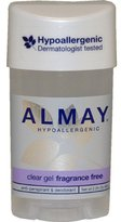 Almay Clear Gel, Anti-Perspirant & Deodorant, Fragrance Free, 2.25-Ounce Stick (Pack of 12)