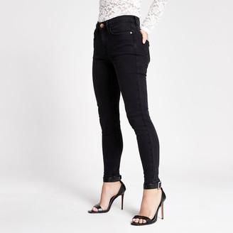 River Island Womens Petite Black Amelie super skinny jeans