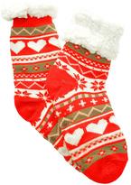 Angelina Red Heart Fleece-Lined Slipper Socks