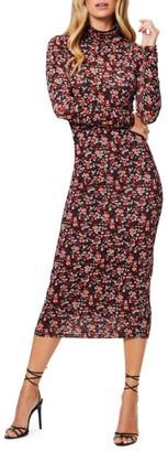Ramy Brook Heidi Floral Print Midi Sheath Dress