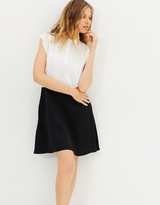 The Kooples Mix Crepe & Lace Polo Dress