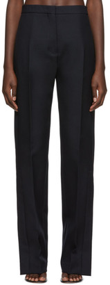 Jil Sander Navy Wool Straight-Cut Trousers