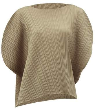 Pleats Please Issey Miyake Technical-pleated Top - Womens - Grey