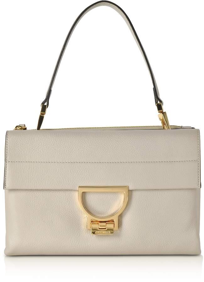 Coccinelle Seashell Pebbled Leather Arlettis Shoulder Bag