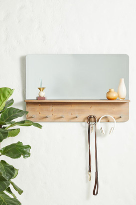 Anthropologie Parker Mirror and Hook Rack By in Beige Size ALL