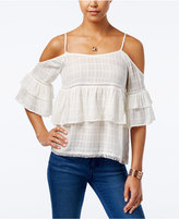 American Rag Ruffled Cold-Shoulder Top, Only at Macy's
