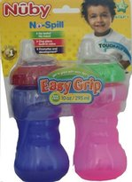 Nuby BPA FREE Gripper Cup Girl Colors - 2-pk