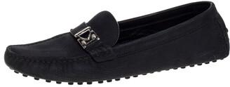 Louis Vuitton Black Suede Racetrack Loafers Size 39.5