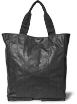 Maison Margiela Fold-away Leather Tote Bag - Black