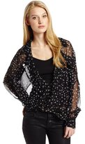 Funktional Women's Glimmer Long Sleeve Fold Front Blouse