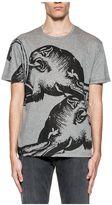 Valentino Gray Panther Print T-shirt