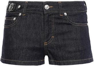 Versace Logo-embellished Denim Shorts