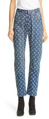 Marine Serre Moon Print Denim Pants