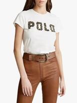 Ralph Lauren Polo Polo Embellished Logo T-Shirt, Nevis