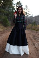 Shabby Apple B&W Blizzard Maxi Skirt