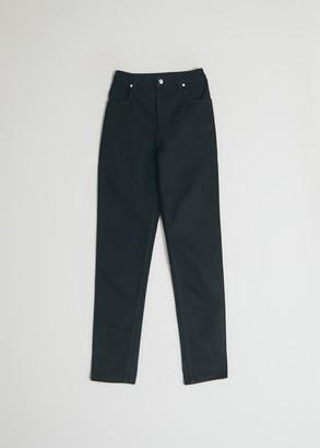 Eckhaus Latta Women's El Jean In Almost Black in Black, Size 25   100% Cotton