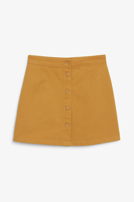 Monki A-line cotton mini skirt