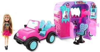 Sparkle Girlz Jeep With Doll And Beauty Salon