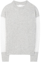 See by Chloe Mohair And Wool-blend Sweater With Embroidered Tulle