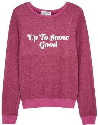 Wildfox Couture Snow Good brushed jersey sweatshirt