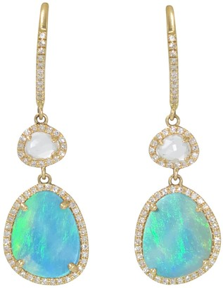 Kamaria Clara Earrings With Opal & White Topaz