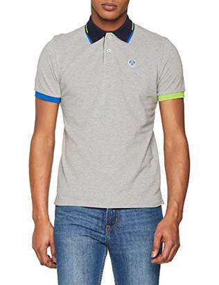North Sails Men`s Miamian Polo - Everyday Short Sleeved with Logo - L