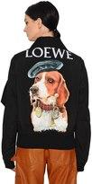 Loewe Printed Gabardine & Wool Bomber Jacket