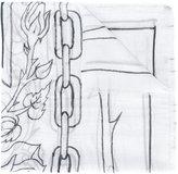 Enfants Riches Deprimes linear print scarf - women - Viscose - One Size
