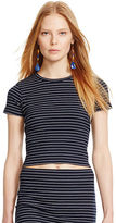 Polo Ralph Lauren Striped Cropped Crewneck Shirt