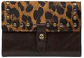 Patricia Nash Leopard Haircalf Colli Flap Wallet