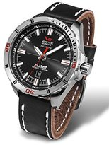 Vostok Europe Almaz Men's Analog 24J Automatic Leather Strap Watch NH35A/320A258