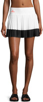 Stella McCartney Pleated Performance Tennis Skirt, White/Black