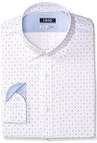 Izod Men's Slim Fit Print Buttondown Collar Dress Shirt